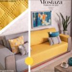 Protector de sillón, protectos de sillones color amarillo mostaza con gris. Decoración de hogar Costa Rica